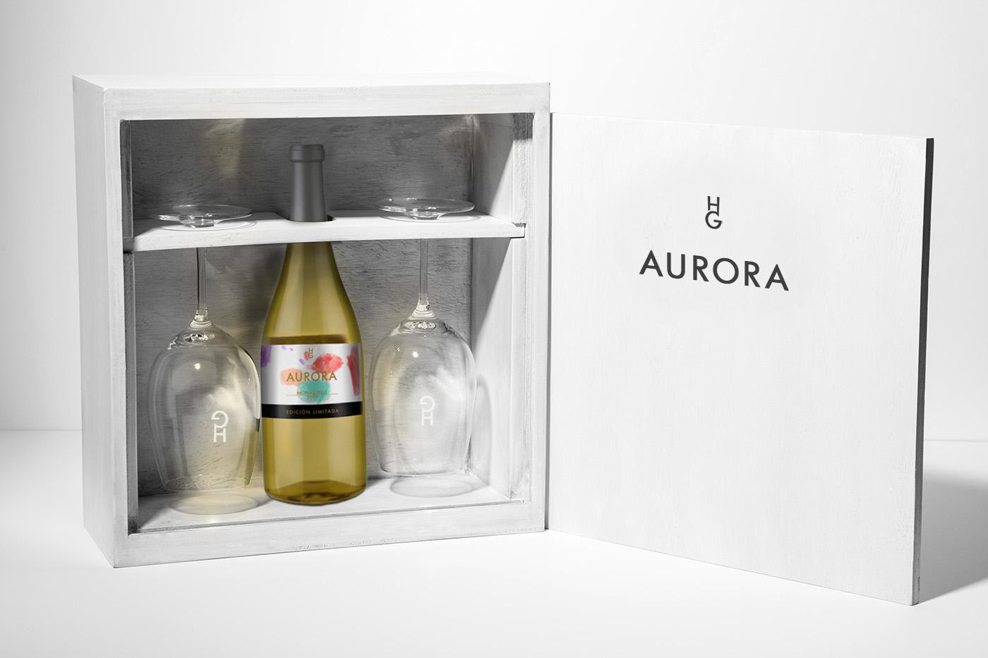 caja vino aurora  hg